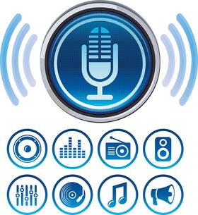 Vector podcast iconsのイラスト素材 [FYI03082912]