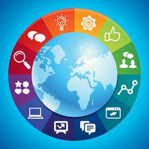 Vector internet marketing conceptのイラスト素材 [FYI03082960]