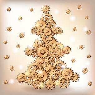 Mechanical Christmas treeのイラスト素材 [FYI03082995]