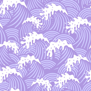 Seamless pattern with violet wavesのイラスト素材 [FYI03083103]