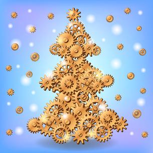 Mechanical Christmas treeのイラスト素材 [FYI03083139]
