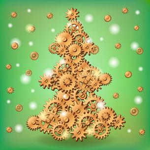 Mechanical Christmas treeのイラスト素材 [FYI03083174]