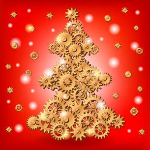 Mechanical Christmas treeのイラスト素材 [FYI03083179]