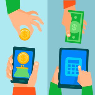 Vector online banking conceptのイラスト素材 [FYI03083390]