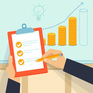 Vector financial business planのイラスト素材 [FYI03083445]