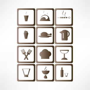 Food and drinks iconのイラスト素材 [FYI03083449]