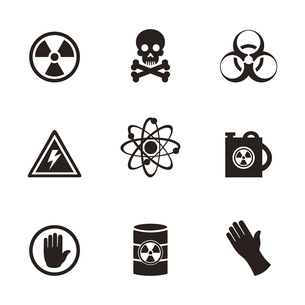 Set of icons danger. A vector illustrationのイラスト素材 [FYI03083473]
