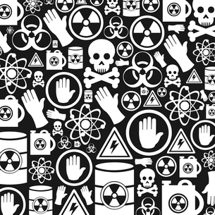 Background made of danger. A vector illustrationのイラスト素材 [FYI03083474]