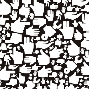 Background made of hands. A vector illustrationのイラスト素材 [FYI03083491]
