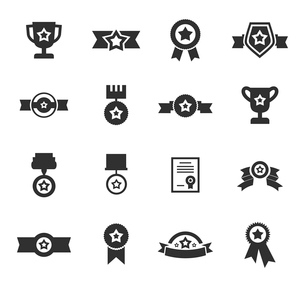 Set of icons a medal. A vector illustrationのイラスト素材 [FYI03083519]