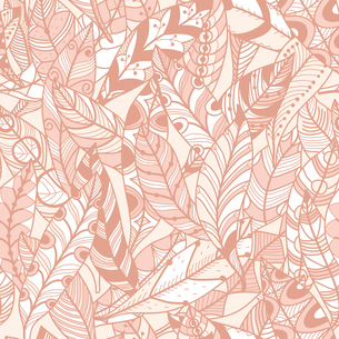 vector seamless pattern with abstract feathersのイラスト素材 [FYI03083713]