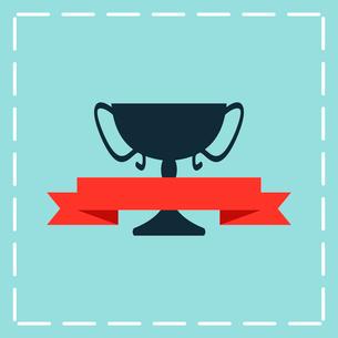 black trophy iconのイラスト素材 [FYI03083822]