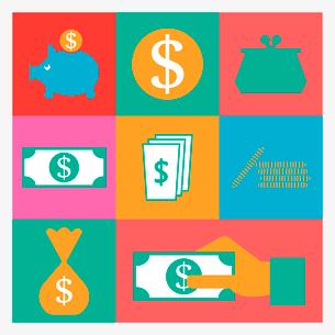 money iconsのイラスト素材 [FYI03083904]
