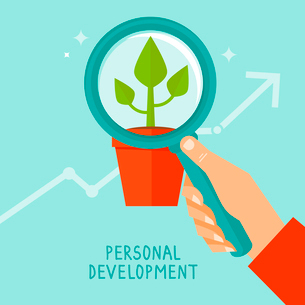 Vector personal development concept in flat style - infographic design elements and iconsのイラスト素材 [FYI03084468]