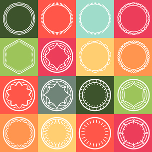 vector outline frames - abstract monogram templates - logo and badge templatesのイラスト素材 [FYI03084516]
