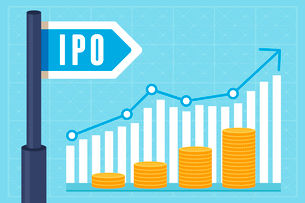 Vector IPO (initial public offering) concept in flat style - investment and strategy iconsのイラスト素材 [FYI03084568]