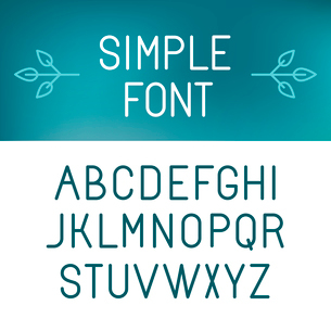 Vector minimalistic font set - outline letters in modern styleのイラスト素材 [FYI03084600]