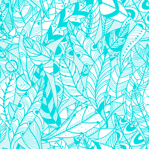 vector seamless pattern with decorative feathersのイラスト素材 [FYI03084823]