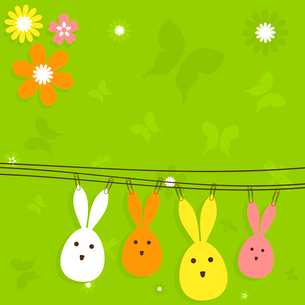 Card on a theme Easter. A vector illustrationのイラスト素材 [FYI03085447]