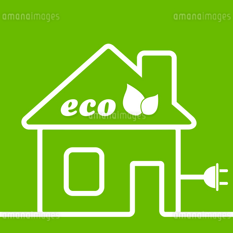 The harmless house on a green background. A vector illustrationのイラスト素材 [FYI03085473]