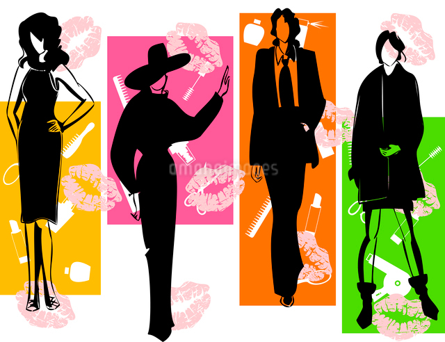 Fashion2. Women of model in fashionable dresses. A vector illustrationのイラスト素材 [FYI03085518]