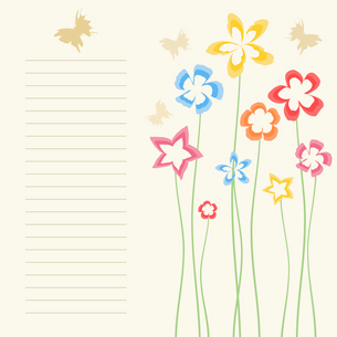 Flower a background2. Flower background with butterflies. A vector illustrationのイラスト素材 [FYI03085577]