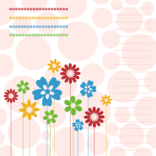 Flower a background4. Two flowers on a beige background. A vector illustrationのイラスト素材 [FYI03085578]