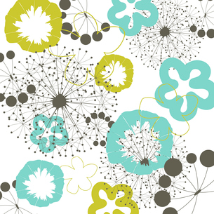 Flower a background6. Two flowers on a beige background. A vector illustrationのイラスト素材 [FYI03085584]