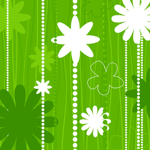 Flower structure. Two flowers on a beige background. A vector illustrationのイラスト素材 [FYI03085595]