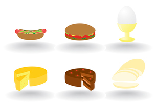 Food icon2. Set of icons of meal on a white background. A vector illustrationのイラスト素材 [FYI03085606]