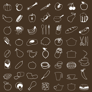 Set of icons of food. A vector illustrationのイラスト素材 [FYI03085620]