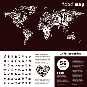 map made of food. A vector illustrationのイラスト素材 [FYI03085626]