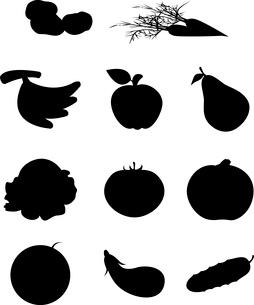 Fruit and vegetables2. Various fruit and vegetables. A vector illustration.のイラスト素材 [FYI03085652]