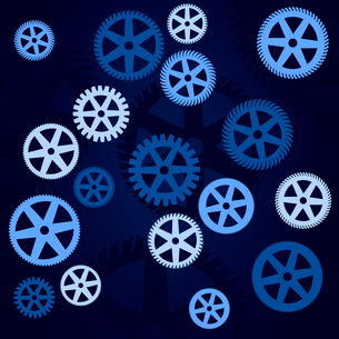 Gear wheel3. Blue background with gear wheels. A vector illustrationのイラスト素材 [FYI03085677]
