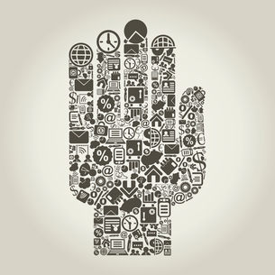 Hand from business subjects. A vector illustrationのイラスト素材 [FYI03085768]