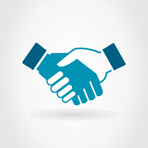 Hand shake on a grey background. A vector illustrationのイラスト素材 [FYI03085791]
