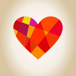 Scrappy heart from geometrical objects. A vector illustrationのイラスト素材 [FYI03085920]