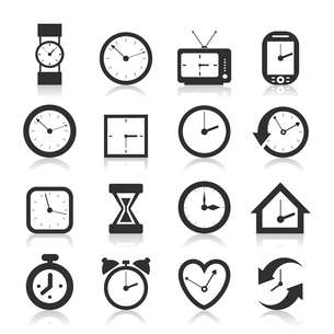 Set of icons of hours. A vector illustrationのイラスト素材 [FYI03085943]