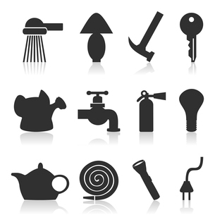 House subjects2. Set of icons on a theme house subjects. A vector illustrationのイラスト素材 [FYI03085982]