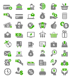 Set of icons for business. A vector illustrationのイラスト素材 [FYI03085998]