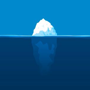 Iceberg. The white iceberg floats at ocean. A vector illustrationのイラスト素材 [FYI03086002]