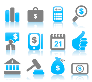 Set of icons for business. A vector illustrationのイラスト素材 [FYI03086024]