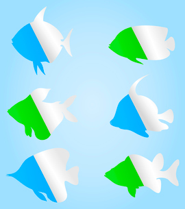Icon of fish3. Collection of icons on a theme of fish. A vector illustrationのイラスト素材 [FYI03086039]
