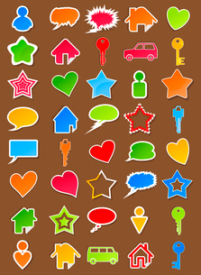 Icons. Set of icons for web design. A vector illustrationのイラスト素材 [FYI03086094]