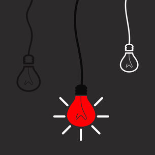 The red bulb means idea. A vector illustrationのイラスト素材 [FYI03086110]