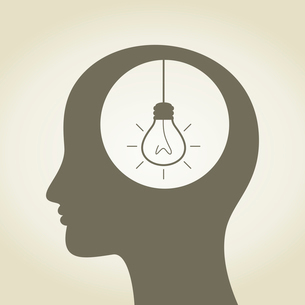 The head of the person thinks idea. A vector illustrationのイラスト素材 [FYI03086112]