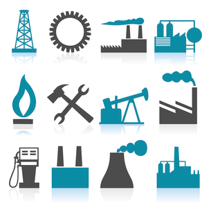 Industrial icons4. Collection of icons on a theme the industry. A vector illustrationのイラスト素材 [FYI03086118]