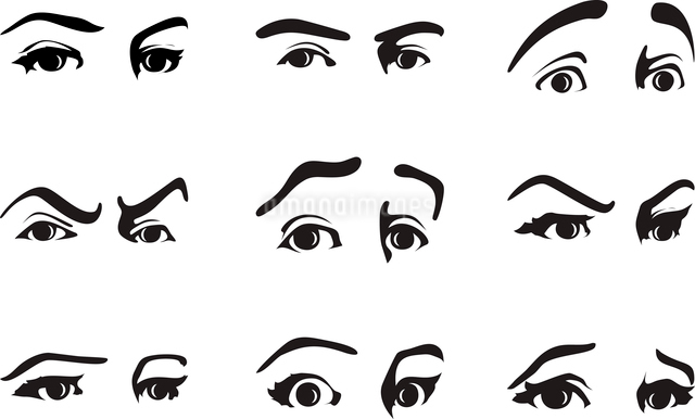 look. Different expression of an eye expressing emotions. A vector illustrationのイラスト素材 [FYI03086227]