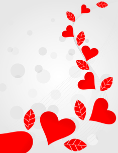 Love background2. Background of love with red hearts. A vector illustrationのイラスト素材 [FYI03086239]