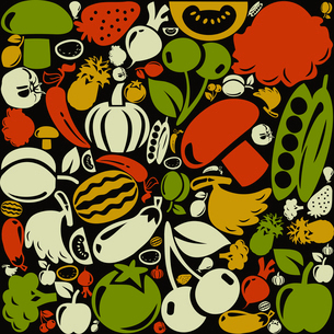 Background made of fruit. A vector illustrationのイラスト素材 [FYI03086310]